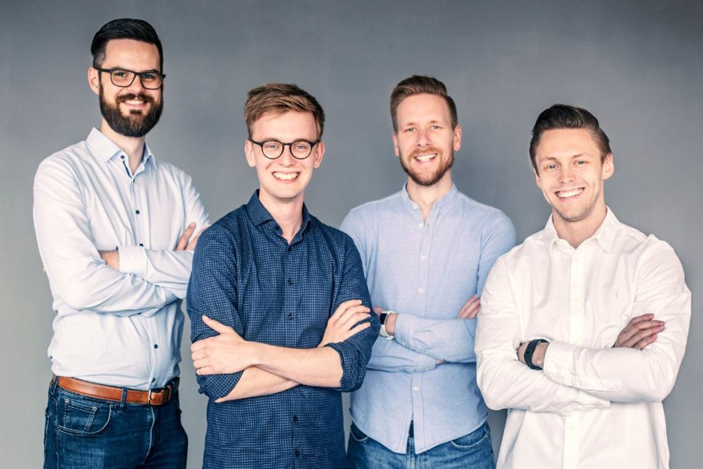 Das edyoucated-Team von links nach rechts: Jannik Weichert, David Middelbeck, Jan Sebastian Papenbrock und Marius Vennemann.